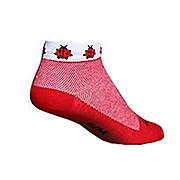 SockGuy Lady Bug Lowcut Womens Socks