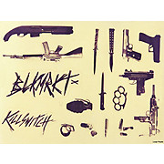 Black Market Bikes KillSwitch Frame Decal Sheet 2012