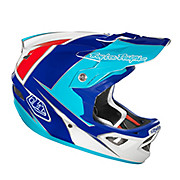 Troy Lee Designs D3 Composite - Stinger White-Blue 2012
