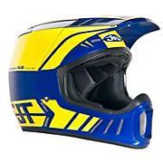 JT Racing ALS2 Full Face Helmet - Blue-Yellow 2012
