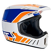 JT Racing ALS2 Full Face Helmet - White-Blue 2012