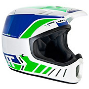 JT Racing ALS2 Full Face Helmet - White-Green 2012