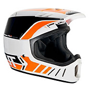 JT Racing ALS2 Full Face Helmet - White-Orange 2012