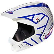 JT Racing Evo Helmet - White-Blue 2013