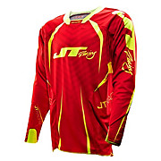 JT Racing Evo Protek Fader Jersey - Red-Yellow 2013