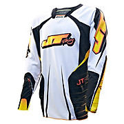 JT Racing Evo Protek Race Jersey - White-Black 2013