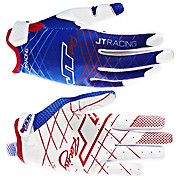 JT Racing Evo Lite Lazer Gloves - Blue-White 2013