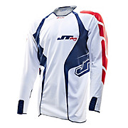 JT Racing Evo Lite Race Jersey - White-Blue 2013