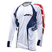 JT Racing Evo Youth MX Jersey - White-Blue 2013