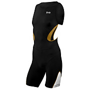 TYR Male Carbon Zipperback Tri Suit with Pad 2013