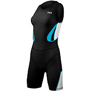 TYR Womens Carbon Trisuit Back Zip with Pad 2013