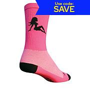 SockGuy 6 Pink Flap Crew Socks 2013