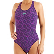 Speedo Monogram Pullback Swimsuit AW13