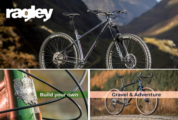 Picture of a Ragley hardtail MTB and mountain bike frame and adventure bike with the message Get Wild with the new 2021 MTB Range