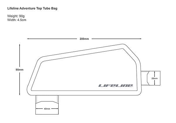 Life Line Adventure Top Tube Bag