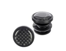 LifeLine Carbon Finish Push In Bar End Plugs