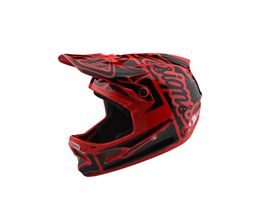 Troy Lee Designs D3 Fiberlite Helmet - Factory Red 2018