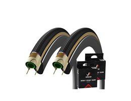 Vittoria 2 Corsa G+ Isotech Tyres & 2 Free Tubes
