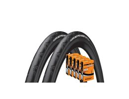 Continental Grand Prix 4000S II 25c Tyres + 5 Tubes