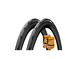 Continental Grand Prix 5000 25c Tyres + Tubes - Pair