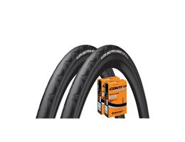 Continental Grand Prix 4000S II 25c Tyres + 2 Tubes