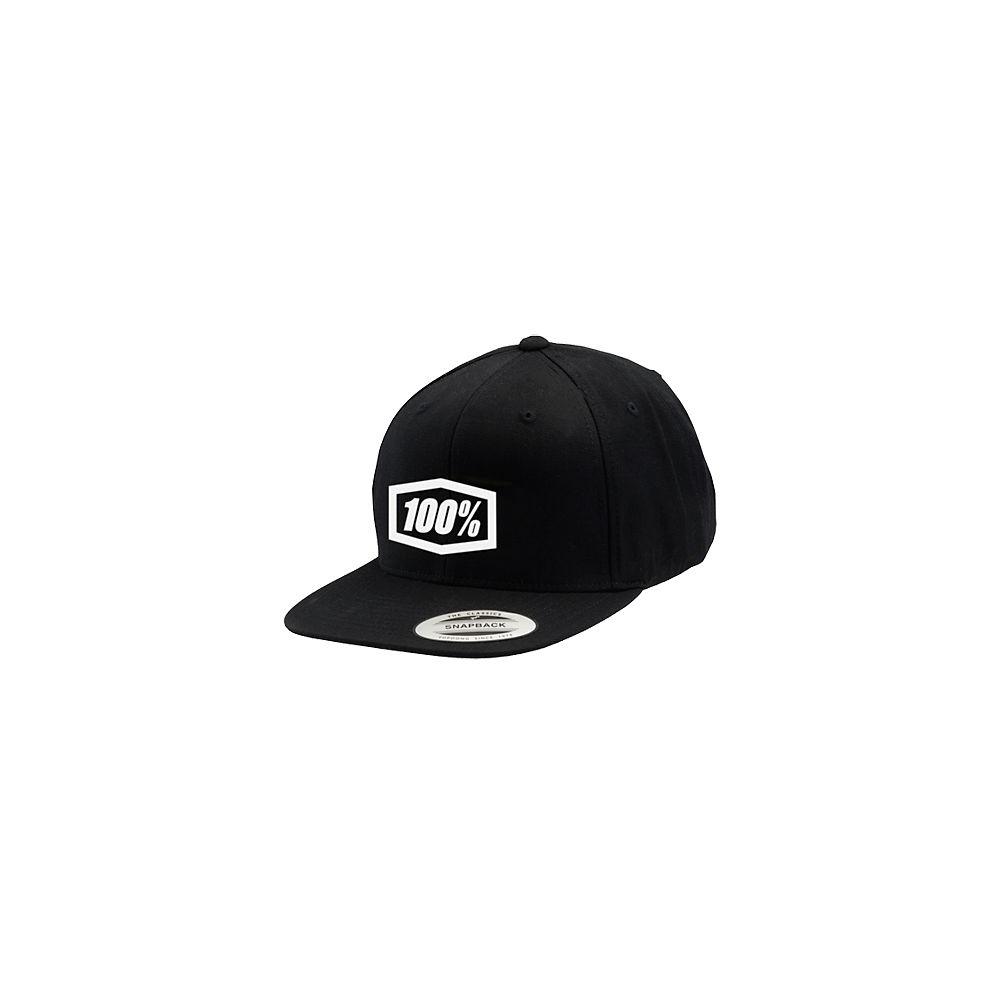 100% Corpo Snapback Hat  - Black - White - One Size, Black - White