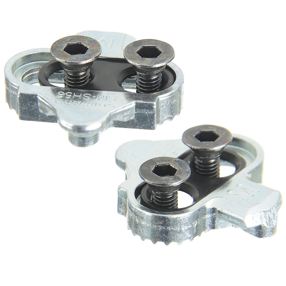 Shimano SPD Cleats (SH56) - Silver - Multi-Directional Release, Silver