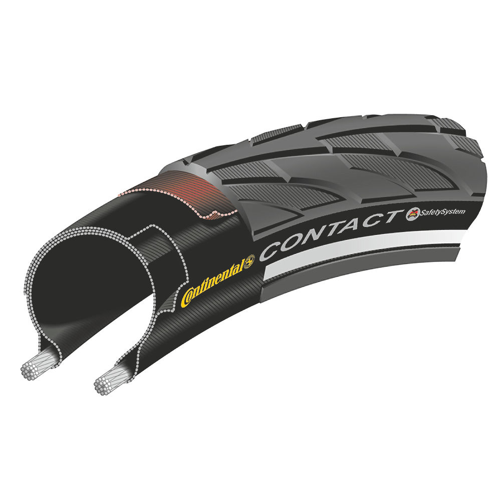 Continental Contact Ii Touring Road Bike Tyre - Black - Reflex - 20  Black - Reflex