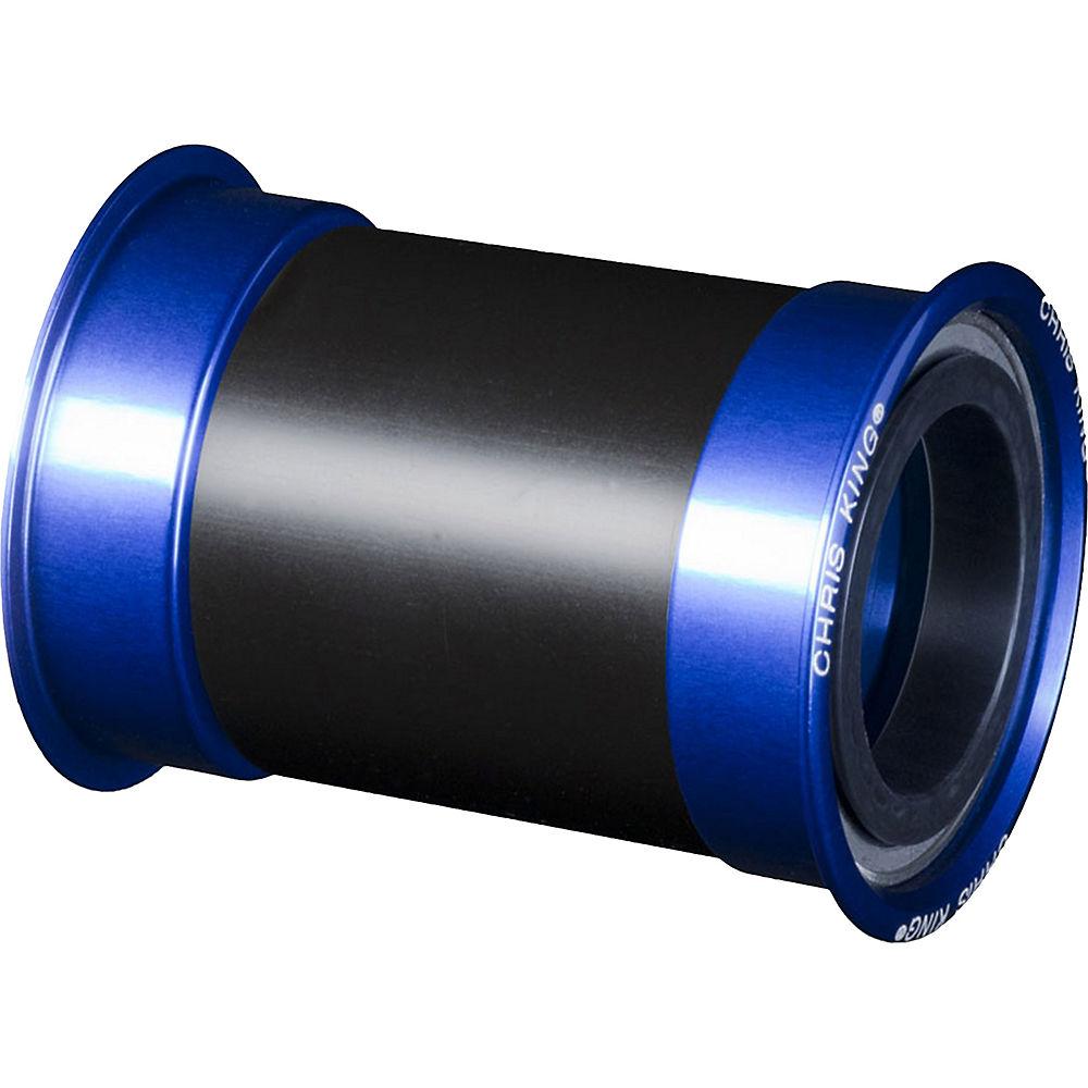Image of Boîtier de pédalier VTT/Route Chris King Press Fit 30 - Bleu - 68/73mm
