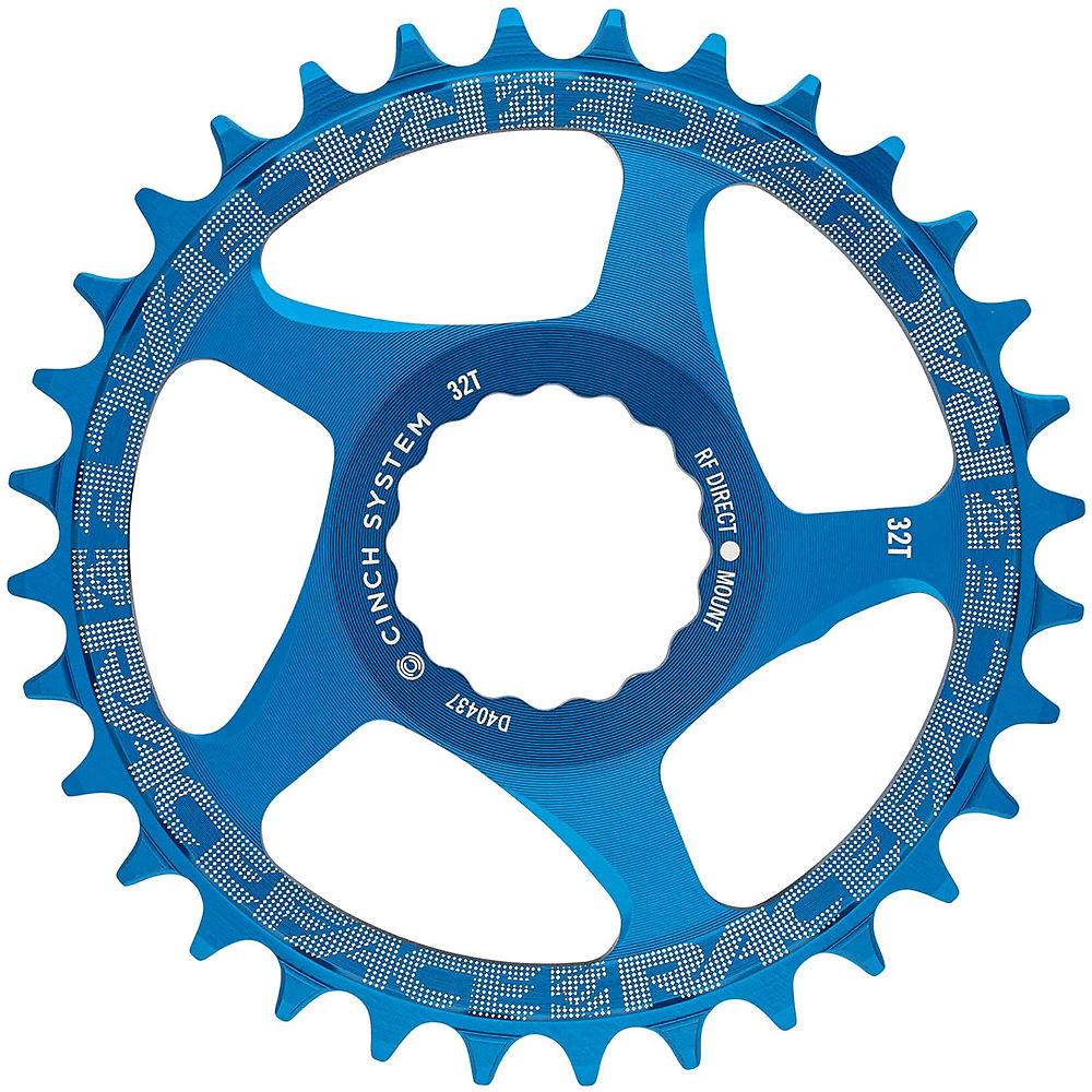 Race Face Direct Mount Cinch Narrow Wide Chainring - Blue - 32t  Blue
