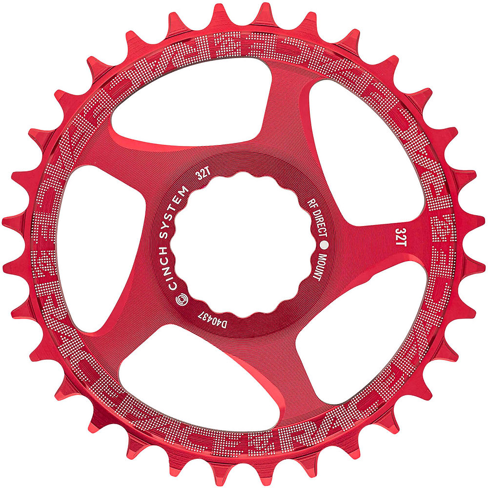 Race Face Direct Mount Cinch Narrow Wide Chainring - Red - 34t  Red