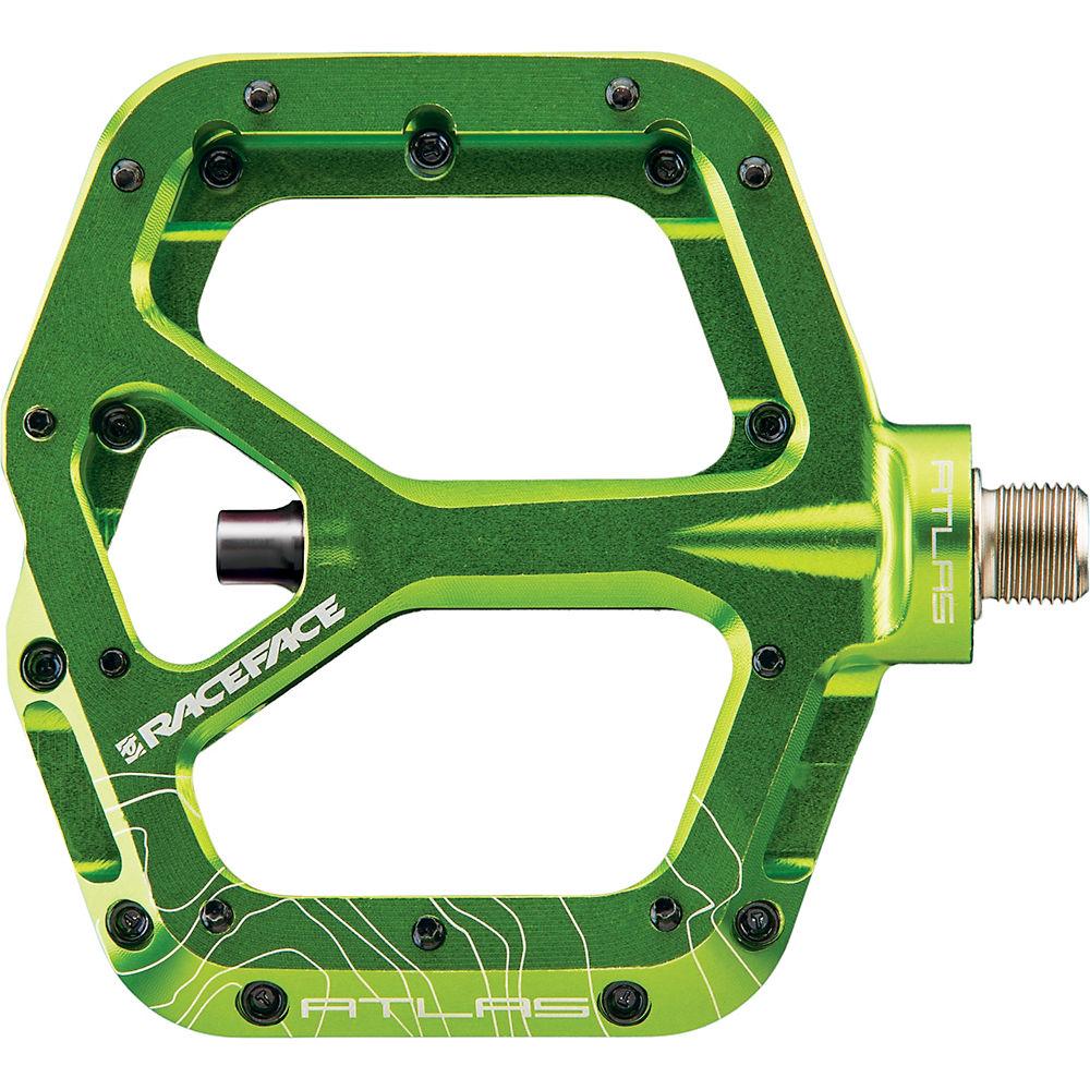 Race Face Atlas Flat Mountain Bike Pedals - Green  Green