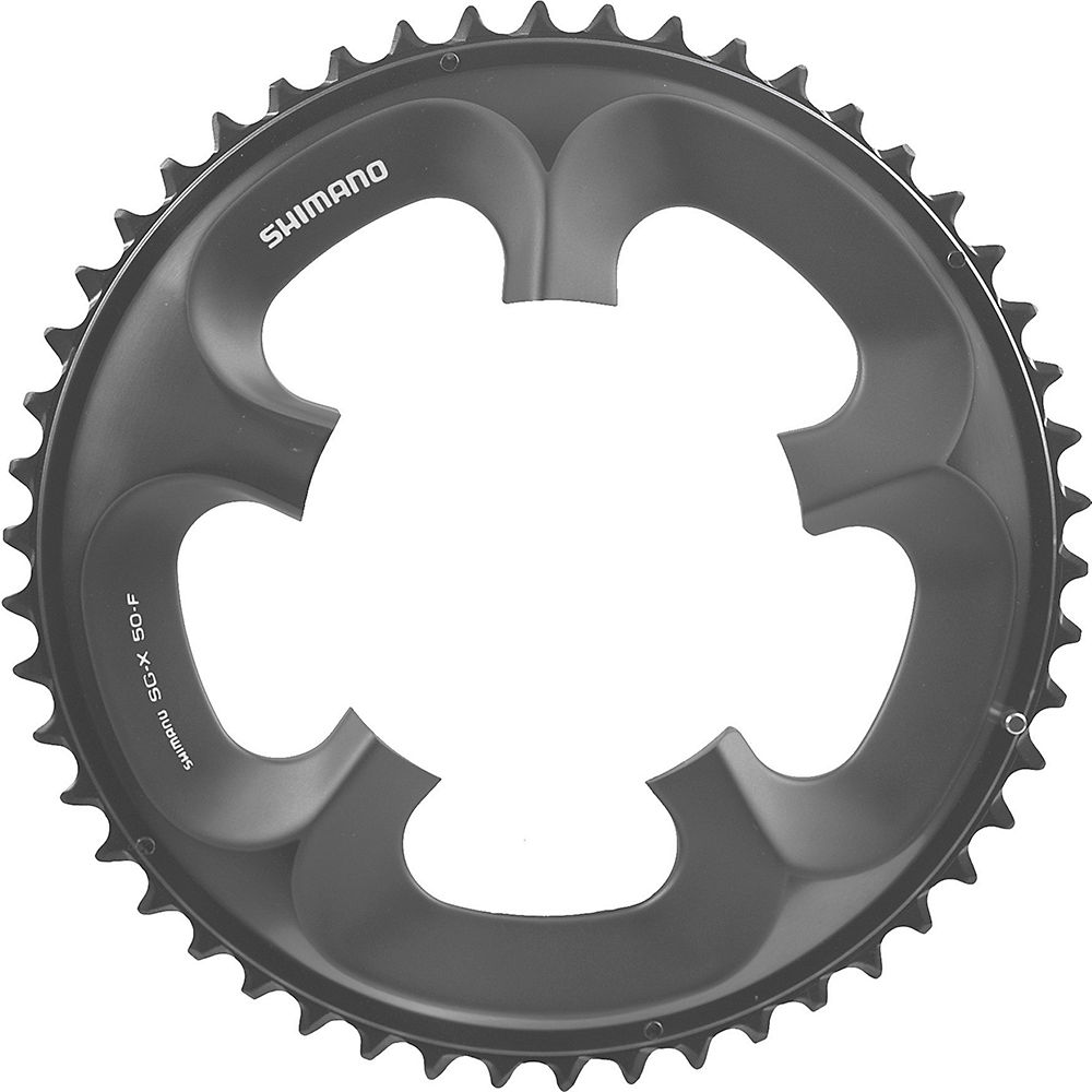 Shimano Ultegra FC6750 10 Spd Compact Chainrings - Grey - 110mm, Grey