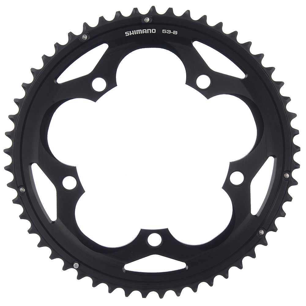 Shimano 105 FC5700 10 Speed Double Chainrings - Black - 130mm, Black