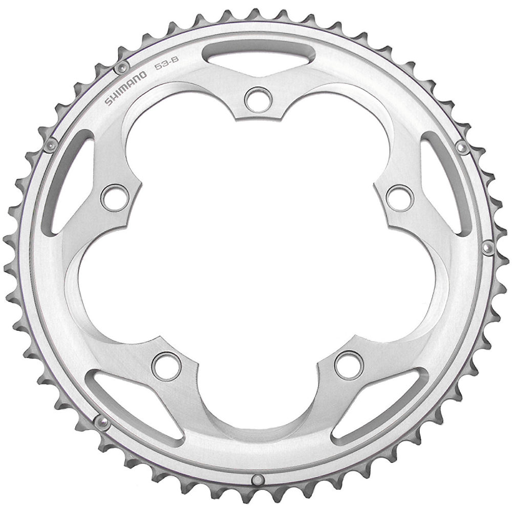 Shimano 105 Fc5700 10 Speed Double Chainrings - Silver - 53t  Silver