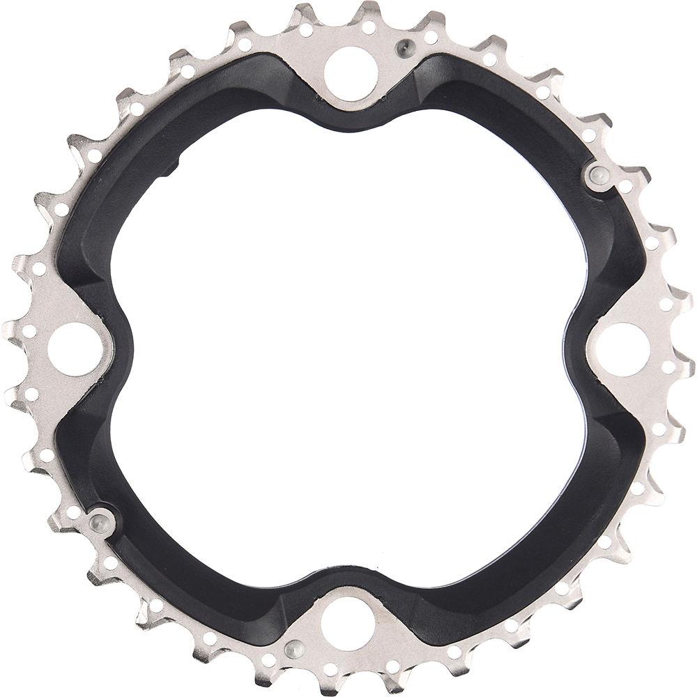 Shimano SLX FCM670 10 Speed Triple Chainrings - Black - Chain Guard Type, Black