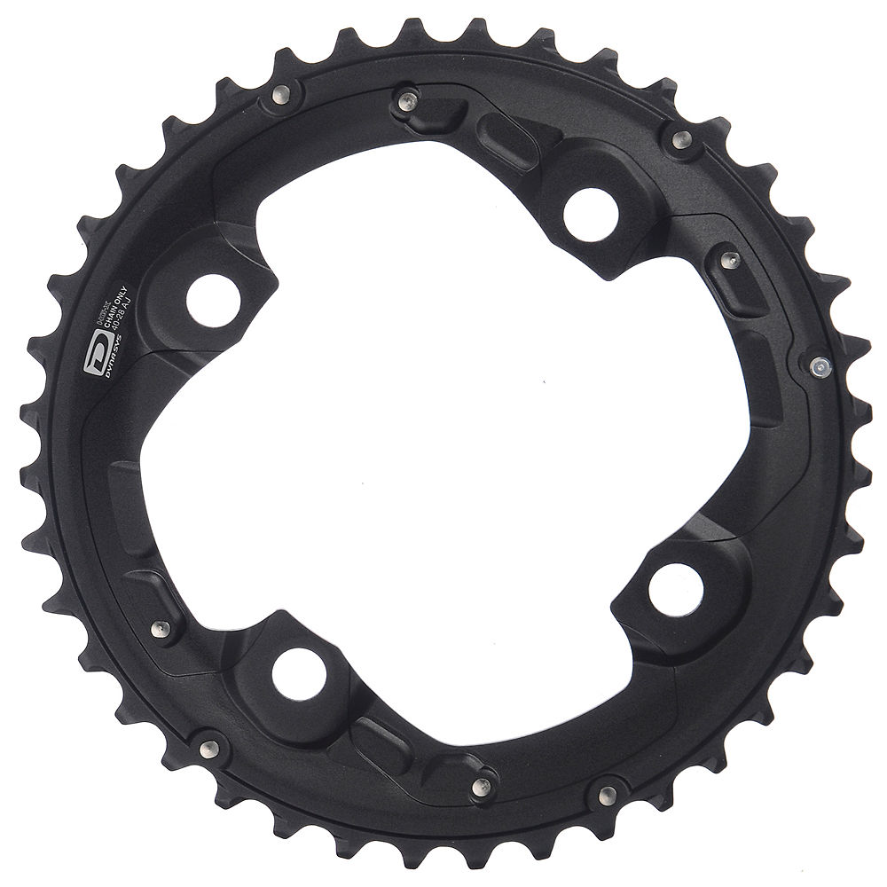 Shimano SLX FCM675 10 Speed Double Chainrings - Black - For 38.24t, Black
