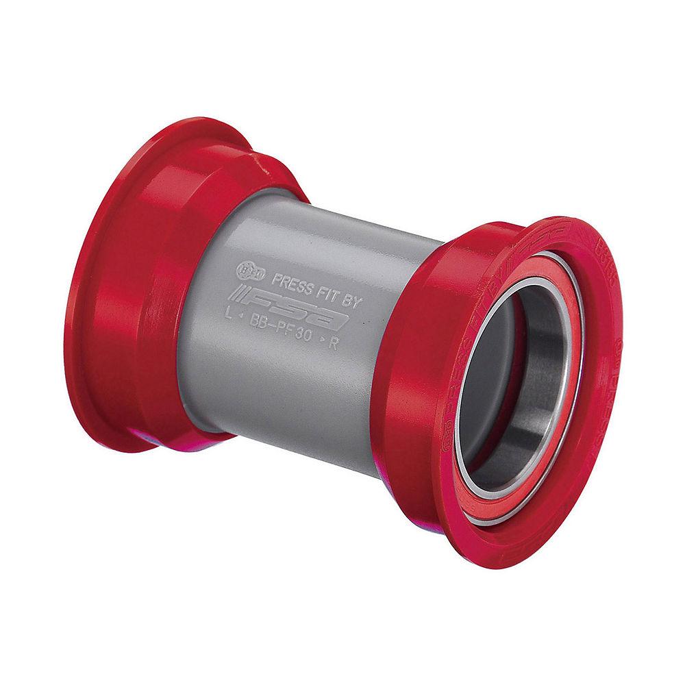 Eje de pedalier de cerámica de carretera FSA PF30 - Rojo - 68 x 46mm - PF30 - 24mm Spindle, Rojo