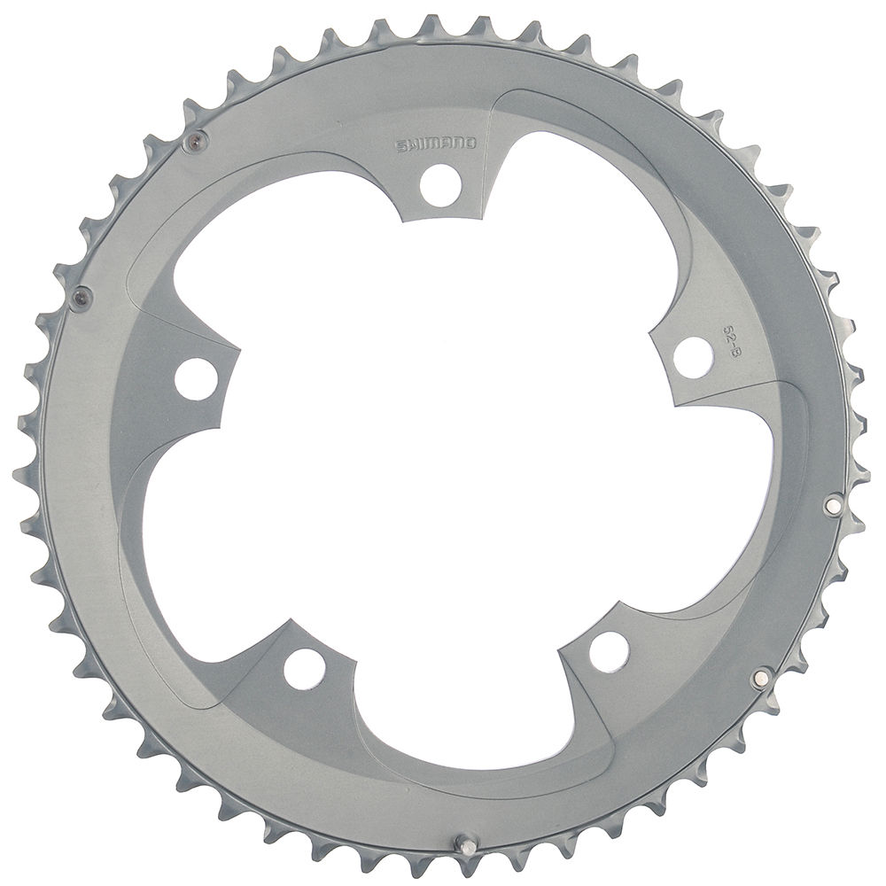 Shimano Tiagra FC4600 10sp Double Chainrings - Silver - 130mm, Silver
