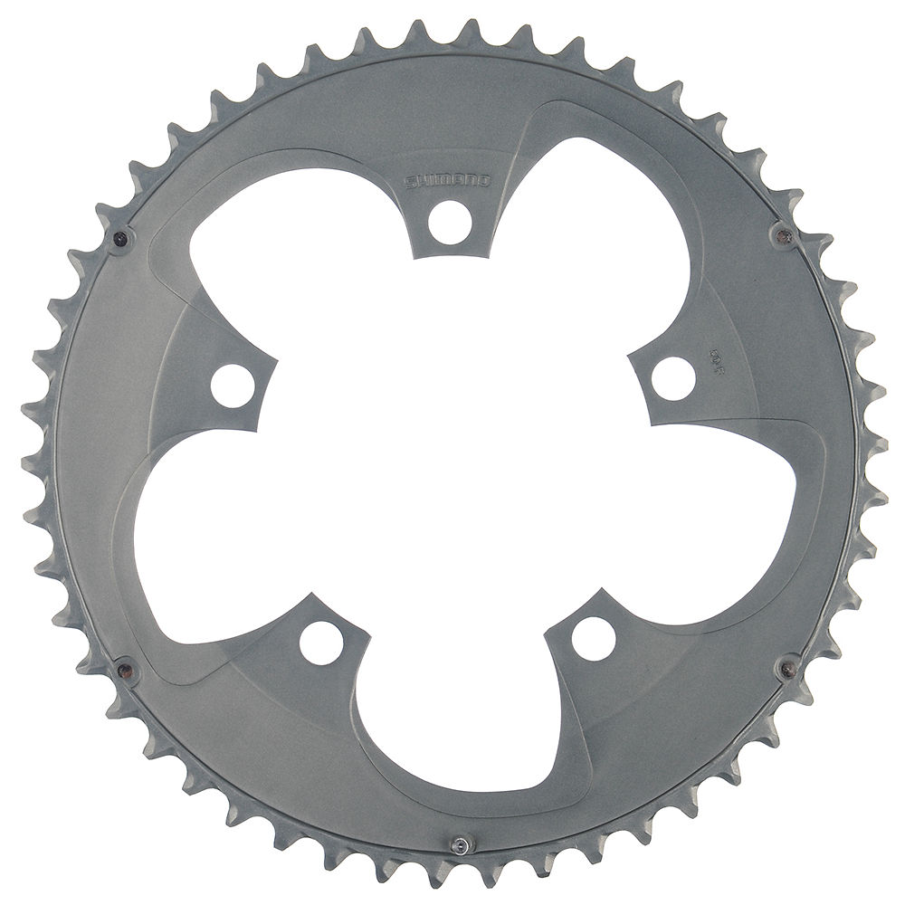 Shimano Tiagra FC4650 10sp Compact Chainrings - Silver - 110mm, Silver