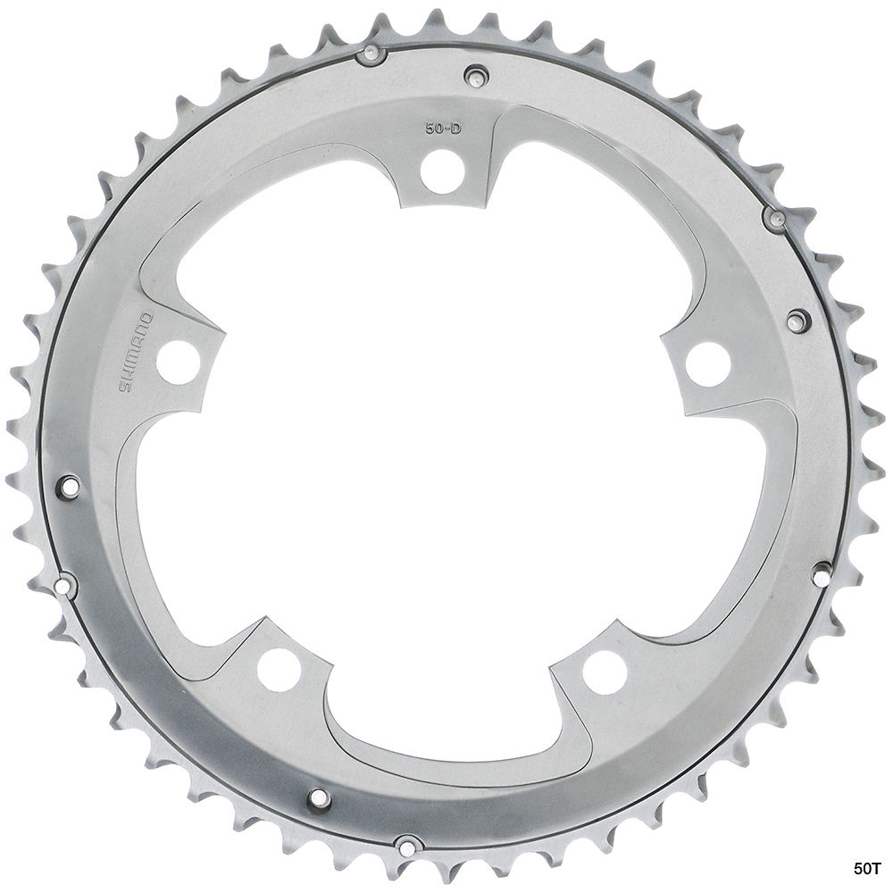 Shimano Tiagra FC4603 10sp Triple Chainrings - Silver - 92mm, Silver