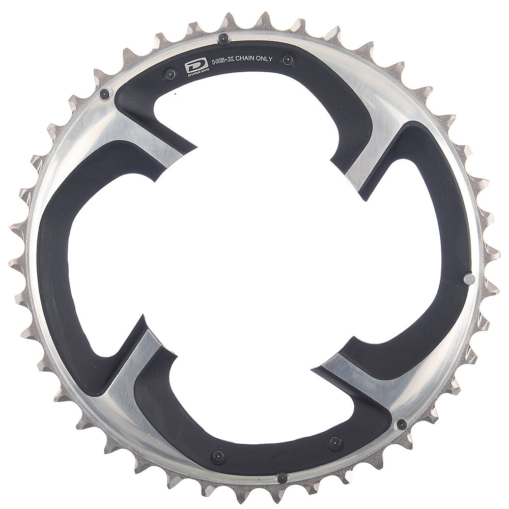 Shimano XTR FCM980 10 Speed Triple Chainrings - Silver - 4-Bolt, Silver