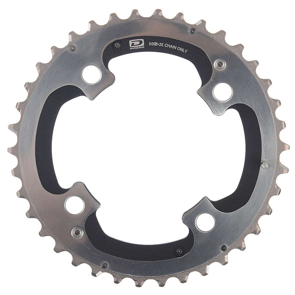 Shimano XTR FCM980 10 Speed Double Chainrings - Silver - 4-Bolt, Silver
