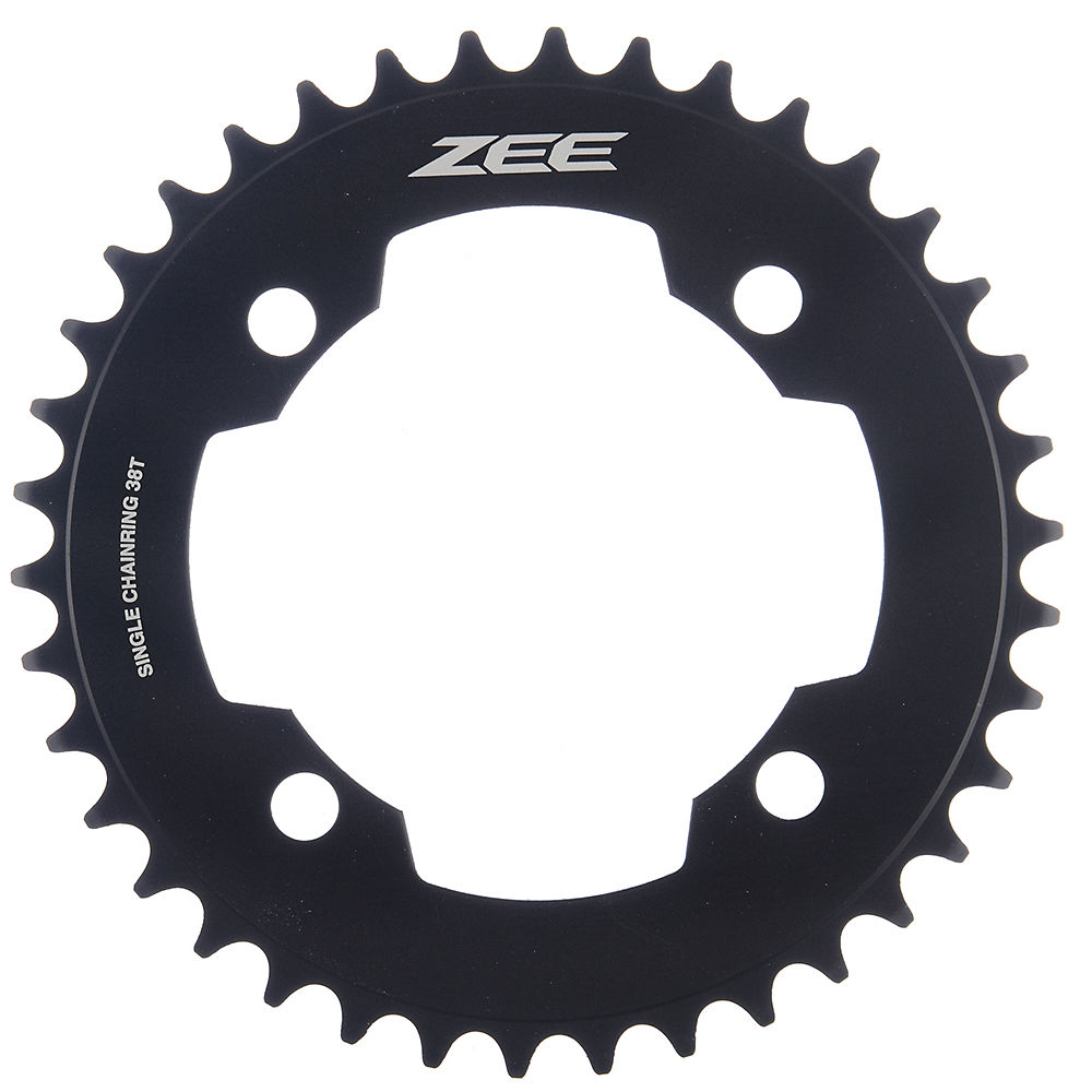 Shimano Zee FCM640-M645 10sp Single Chainrings - Black - 4-Bolt, Black