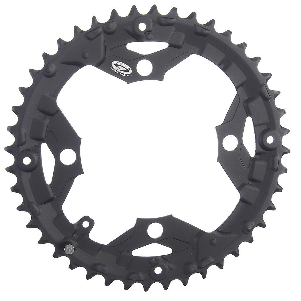Shimano Alivio Fcm430 9 Speed Triple Chainrings - Black - Standard Type  Black