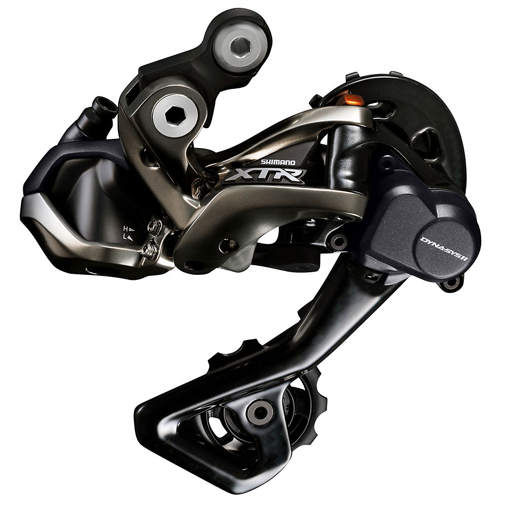 Shimano XTR M9050 Di2 11sp Rear Derailleur - Black - Medium Cage, Black