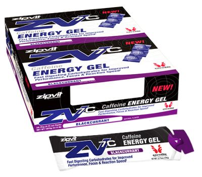 Geles energéticos de cafeína Zipvit ZV7C (60 ml x 24)
