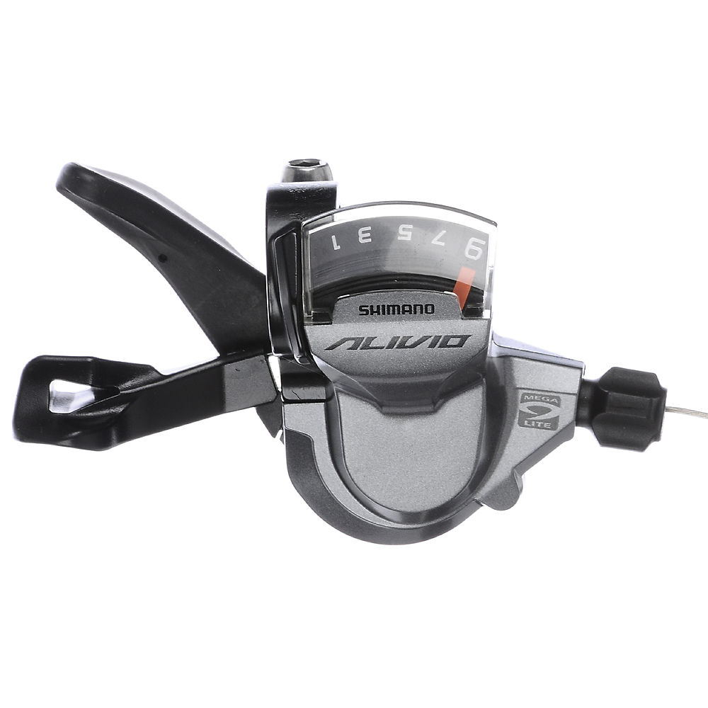 Shimano Alivio M4000 9 Speed Trigger Shifter - Silver - Rear, Silver