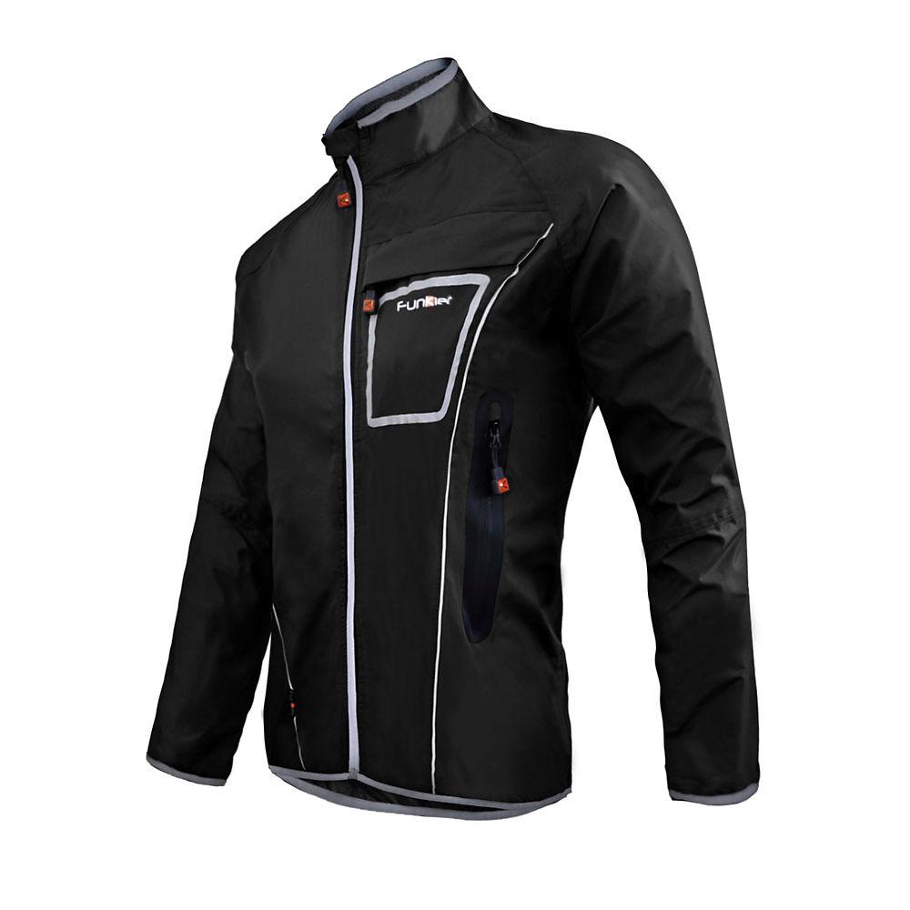 Funkier Cyclone Waterproof Rain Jacket 2017 - Black - S  Black