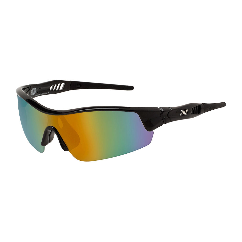 Image of Lunettes de soleil Dirty Dog Edge Sports - Noir/Gold Mirror Lens